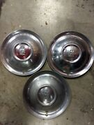 51 52 Plymouth Hub Caps 15 Set Of 3 Wheel Covers Hubcaps 1951 1952