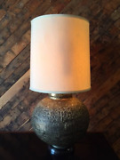 Mid Century Bronze Color Floral Relief Lamp Submit A Zip Code For Shipping Quote