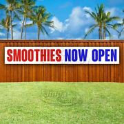Smoothies Now Open Advertising Vinyl Banner Flag Sign Large Huge Xxl Size