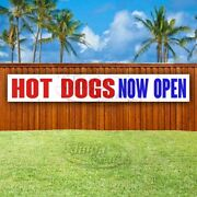 Hot Dogs Now Open Advertising Vinyl Banner Flag Sign Large Huge Xxl Size