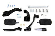 Black 3 Extension Control Kit With Mini Footboards For Harley 2014 - 2019 Xl