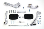 Chrome 3 Extension Control Kit With Mini Footboards For Harley 2014 - 2019 Xl