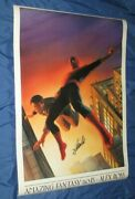 Amazing Fantasy 15 Vintage Poster Signed By Stan Lee Alex Ross Art / Spiderman