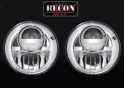Recon Eclairage Projecteur Led Phares Chrome Paire Pour And03907-and039 18 Jeep Wrangler