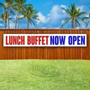 Lunch Buffet Now Open Advertising Vinyl Banner Flag Sign Large Huge Xxl Size
