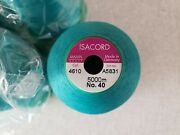 Lot Of 7 - New Isacord Embroidery Thread 5000m Spools - Color 4610