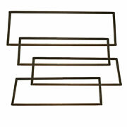 Ford Bronco Oe Quality Glass Seal Kit - Slotted For Chrome Trim Free Shipping