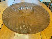 Charles Ranc France Large Art Deco Frosted Glass Pink Hanging Light Shade Nice