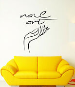 Vinyl Wall Decal Manicure Nail Service Art Hand Logo Stickers 3450ig