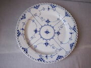 13 Round Plate Royal Copenhagen Blue Fluted Full Lace