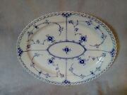 Magnificent  Plate  Royal Copenhagen Blue Fluted Full Lace