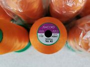 Lot Of 8 - New / Used Isacord Embroidery Thread 5000m Spools - Color 1102