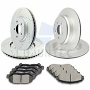 Front Rear Ceramic Pads And Rotors Brake Discs For Honda Odyssey Lx 3.5l 11-14