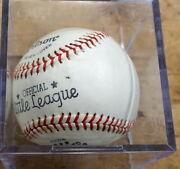 Nelson Fox Signed Wilson Official League Baseball With Coa Mint Free Shipping