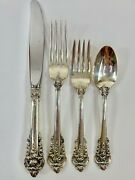 Wallace Grande Baroque Sterling Silver Place Setting - 4 Piece Set Dd1095
