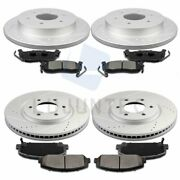 Front Rear Ceramic Pads And Brake Discs Rotors For 2008 2009 2010 Qx56 Hardware