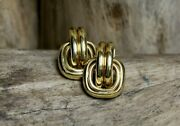 14kt Yellow Gold Large Knot Style Earrings