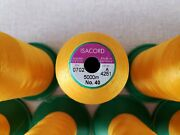 Lot Of 13 - Used Isacord Embroidery Thread 5000m Spools - Color 0702