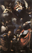 Guercino A Donor Presented To The Virgin Artist Painting Reproduction Handmade