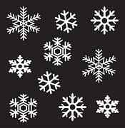 Wall Window Glass Christmas Holiday Sticker Vinyl Snowflakes Decorations