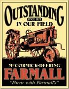 Farm Farmall Tractor Mccormick Deering Outstanding Tin Metal Sign Made In Usa