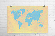 Paisley Tapestry World Map Art Print Wall Poster - Giclee, Wrapped Canvas,
