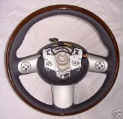 Mini Oem Cooper Euro Wooden Steering Wheel With Buttons R50 R52 R53 2002-2008