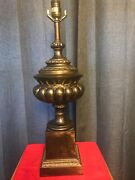 Pair Of Vintage Frederick Cooper Brass Urn Andnbspstyle Table Lamps