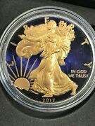 2017 Blue Colorized 1 Troy Oz .999 Silver American Eagle Dollar Coin