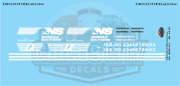 Norfolk Southern Sd70acc Ho Scale Decal Set