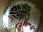 Lot Of Two 1999 And 2000 Colorized Silver American Eagle Coins In Capsules