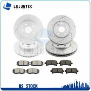 Front Rear Ceramic Pads And Rotors Brake For Buick Allure Chevrolet Impala Saab