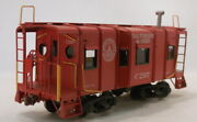 O 2rail Brass Unknown Baltimore And Ohio 32and039 Steel Wagon Top Caboose C2507 Painte
