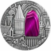 2015 Niue 2 Mysteries Of Hogwarts Crystal Art Castle 2 Oz Silver Coin.