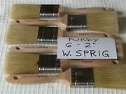 Purdy Paint Brush Lot Of 6 - 2 W. Sprig. Gold Bristles Great Brushes.