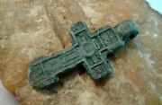 Antique 15-17th Cent. Russian North Orthodox Sword-shaped Cross Crown Of Thorns