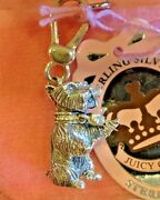 Nwt 2007 Juicy Couture Sterling Silver Yorkie Charm Extremely Rare