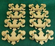 8 Matching Vintage Used Brass Plated Metal Drawer Pulls 3 Inch Ctr.to Ctr. N51