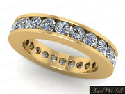 2.30ct Round Diamond Classic Channel Set Wedding Eternity Band Ring 10k Gold Si2