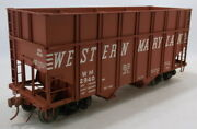 O 2rail Brass R.yoder Western Maryland Class H-15 Wood Chip Hopper 2940 Painted