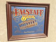 Vintage Falstaff Beer Mirror Sign Very Rare Large 28x 24 Cable Car