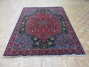 7and03910 X 10and0391 Hand Knotted Navy Blue Ferahan Sarouk Oriental Rug G5344