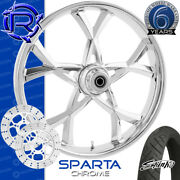 Rotation Sparta Chrome Custom Motorcycle Wheel Front Package Harley Bagger 26