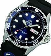 Orient Men Ray Ii Divers Black Rubber Japanese Automatic Faa02008d9 New W Box