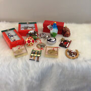 Lot Of 14 Thoroughbred Racing Ornaments