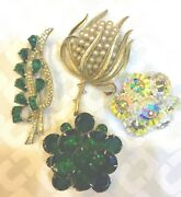 Vintage Jewelry Brooch Pin Lot Of 4