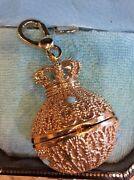 Nwt 2005 Juicy Couture Golden Orb Charm Yjru0406 Tagged Super Rare