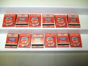 Vintage Pyro Antifreeze Oil And Supply Co. Matchbook Lot Of 12