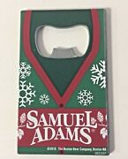 Samuel Sam Adams Winter Credit Card Bottle Opener Pewter Nice Graphics New And F/s