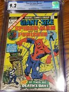 Giant-sized Spider-man Double Cover Cgc 9.2 3rd Punisher